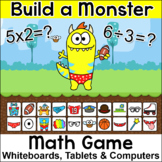 Multiplication and Division Build a Monster Game – For Whi