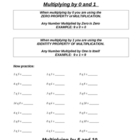 Multiplication by 0,1,2,5,10 tricks introduction arrays