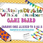 Multiply Whole Numbers Task Cards/Game Board ~ 3.OA.5 Prop