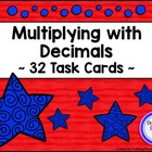 Multiplying Decimals Task Card Set - Patriotic Theme