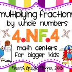 Multiplying Fractions Math Centers {aligned to Common Core
