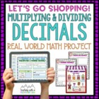 Multiplying and Dividing Decimals Let's Go Shopping Activi