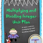 Multiplying and Dividing Integer Notes and Fun Activities