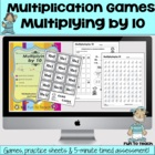 Multiplying by 10 - Math Games and Lesson Plan