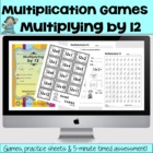 Multiplying by 12 - Math Games and Lesson Plan