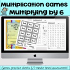 Multiplying by 6 - Math Games and Lesson Plan