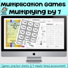 Multiplying  by 7 - Math Games and Lesson Plans