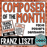 Music Composer of the Month: Franz Liszt-Bulletin Board Pack