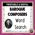 Music: Composers of the Baroque Era Word Search