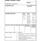 **Best Seller**Music Lesson Plan Form