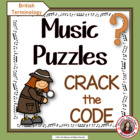Music Puzzles: Crack the Music Code (British terminology)