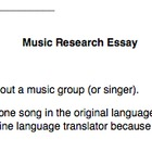 Music Research Essay