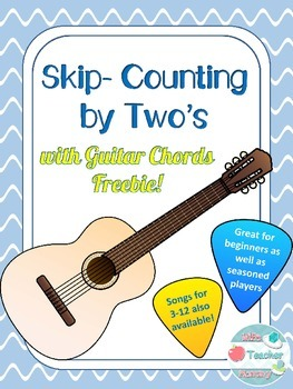 Music: Skip Counting Songs w Guitar: Counting by Two's for
