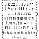 Music Teacher Font