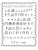 Music Teacher Font for Personal and Commercial Use