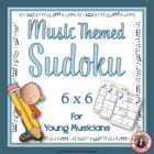 Music Themed SUDOKU Puzzles 6 x 6