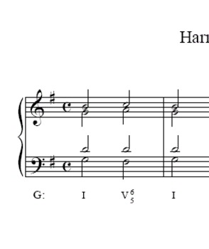 Music Theory Harmonic Dictation 4