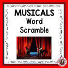 Music: Well-known MUSICALS Word Scramble