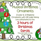 Musical Christmas Ornaments / Gift Tags for Craft w/ QR Co