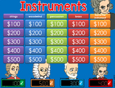 Musical Instruments GAME SHOW - interactive ppt