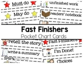 Must Do, May Do...What Do I Do When I'm Done? Pocket Chart Cards