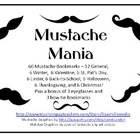 Mustache Mania - Fabulous Bookmarks!