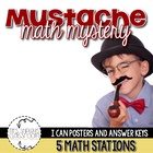 Mustache Math Mystery--Common Core Aligned Math Centers