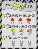 My 3 STAR Paper Coloring Rules Poster