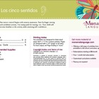 My 5 Senses / Mis cinco sentidos - English/Spanish Lesson