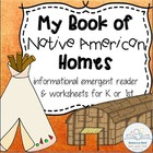 My Book of Native American Homes (Information booklet for