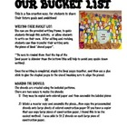 My Bucket List Project...A Great Way to Share Future Ambitions!