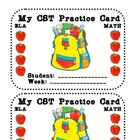 My CST Punch Card (Test Prep Incentive Punch Card)