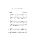 My Country Tis' of Thee: Instrumental with Mix n Match parts