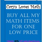 My Entire Math Store for One Price!  Free Download for Lif