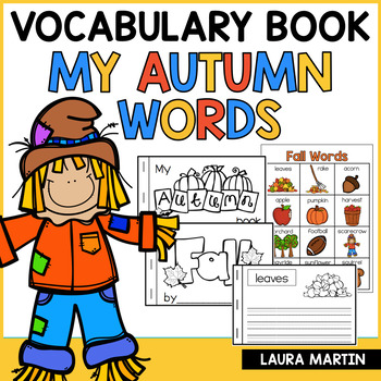 My Fall Words-Vocabulary Booklet
