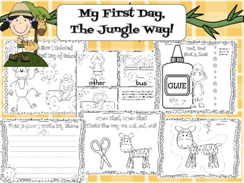 My First Day, The Jungle Way! First Day of School Kindergarten Jungle ...