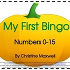 My First Number Bingo Game for Fall, Halloween and Thanksgiving
