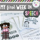 My First Week in Speech