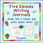 My Five Senses - A Kindergarten Writing Journal