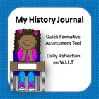 My History Journal - Year 2 Formative assessment tool for