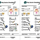 My Play Doctor Checklist & Appointment Cards - Imaginary/D