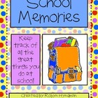 My School Memories {Monthly Memory Book} *Freebie*