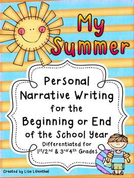 My Summer ~ Narrative Writing for the Beginning or End of the School Year