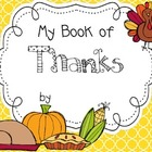 My Thankful Book 2 - Thanksgiving Literacy & Social Studies Fun!