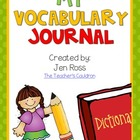 My Vocabulary Journal {Draw and Write}