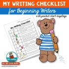 My Writing Checklist - First and Second Grade