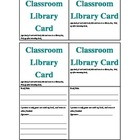 My classroom library cards