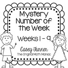 Mystery Number of the Week Set 1 in Black & White