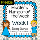 Mystery Number of the Week, Week 1 FREE