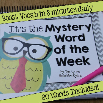 Mystery Word of the Week Boost Vocabulary 40 Weeks All Year